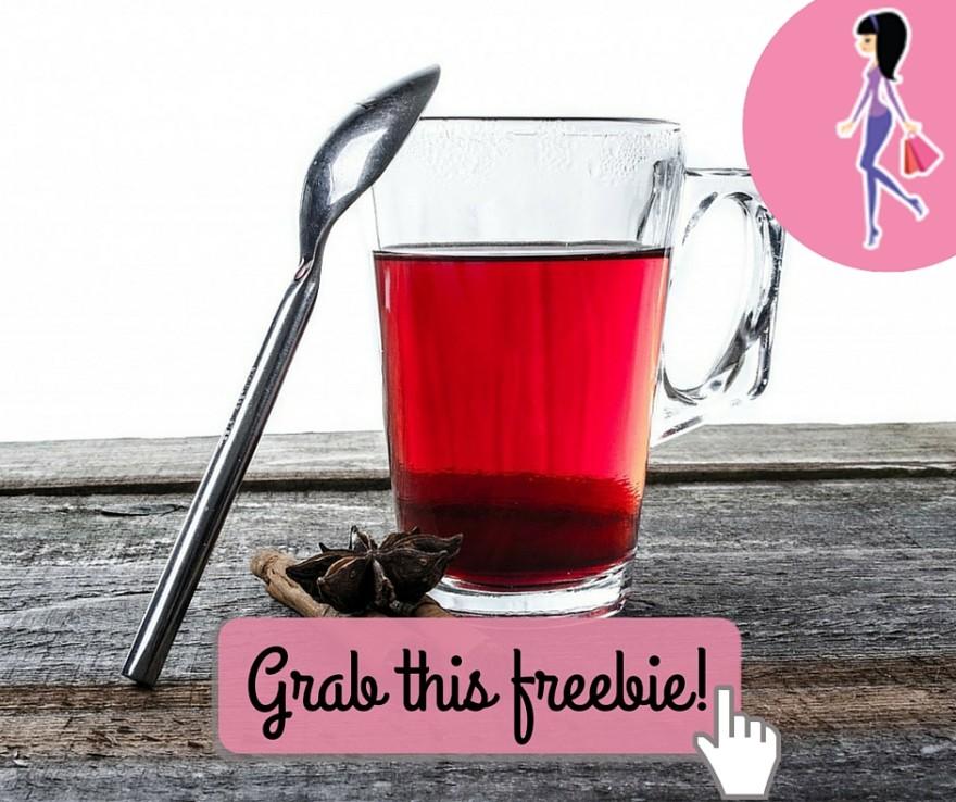 Catchy freebie template tea mug