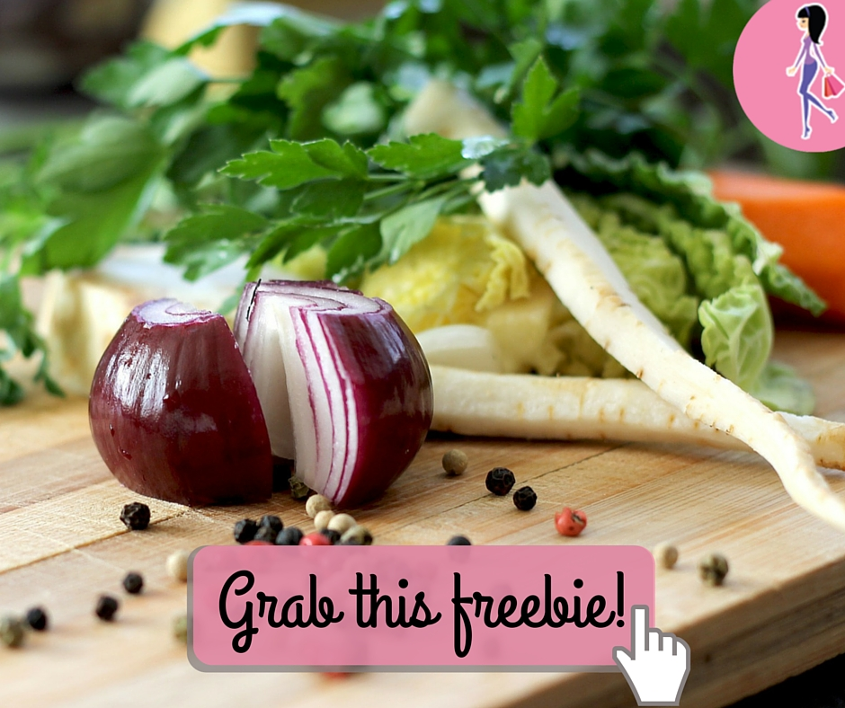 Catchy freebie template cooking vegetables