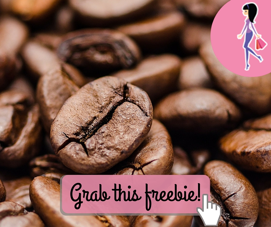 Catchy freebie template coffee