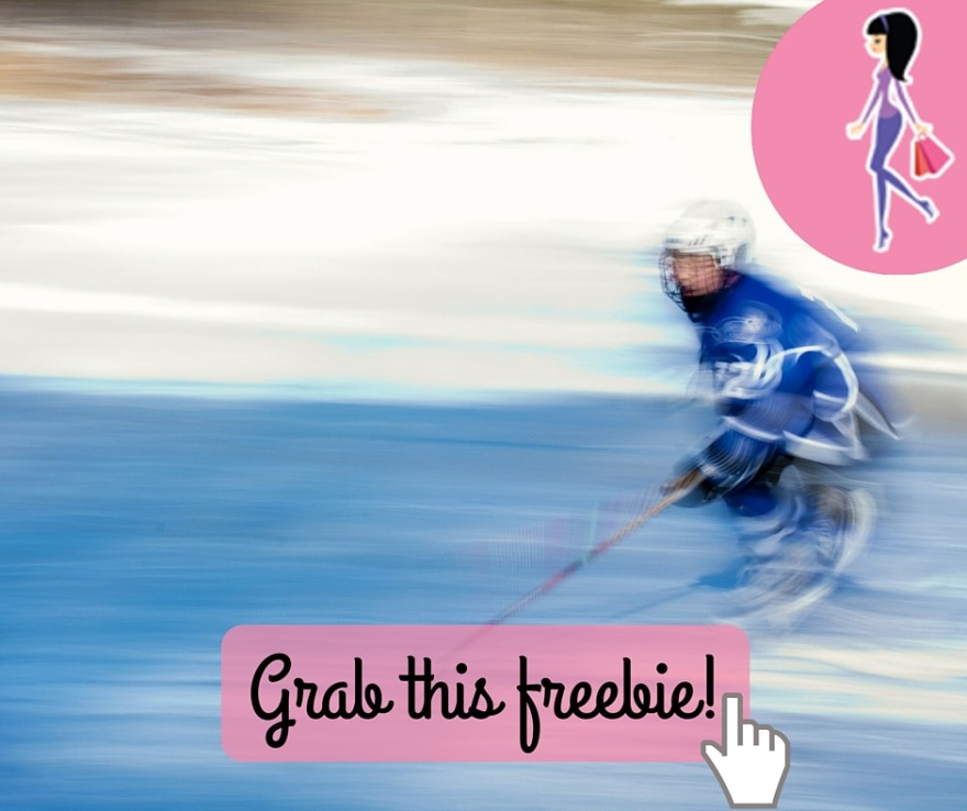 Catchy freebie template hockey