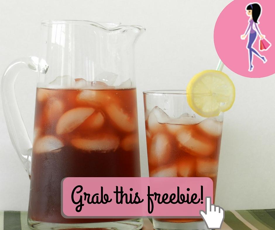 Catchy freebie template iced tea