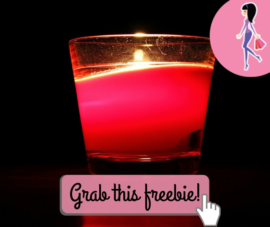 Catchy freebie template candle