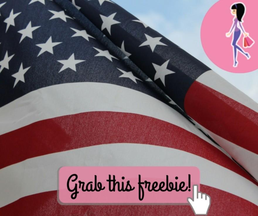 Catchy freebie template flag
