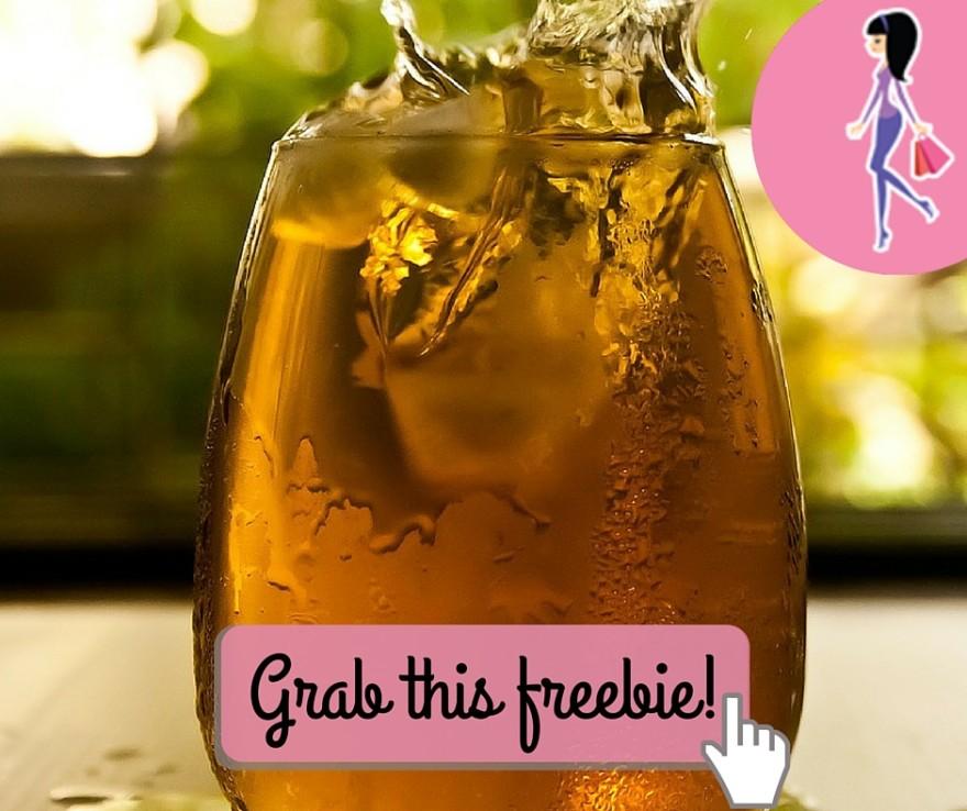 Catchy freebie template iced tea glass
