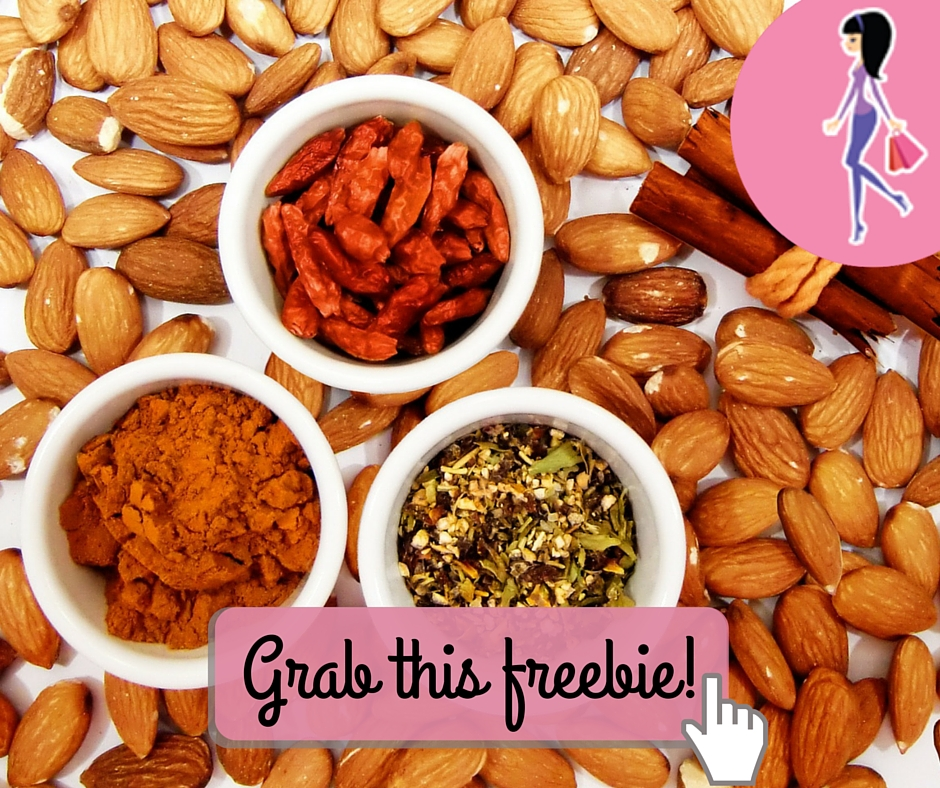 Catchy freebie template nuts and spices