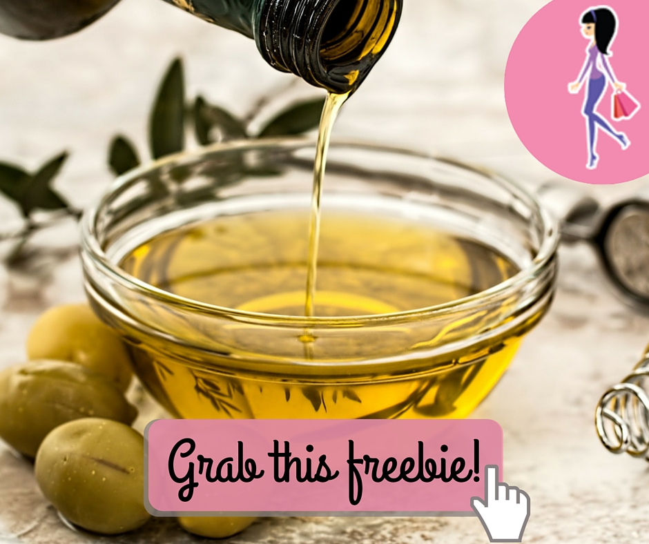 Catchy freebie template olive oil