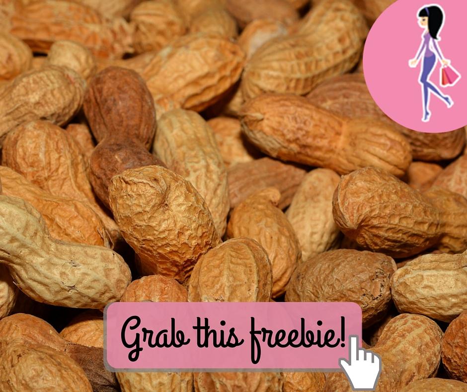 Catchy freebie template peanuts