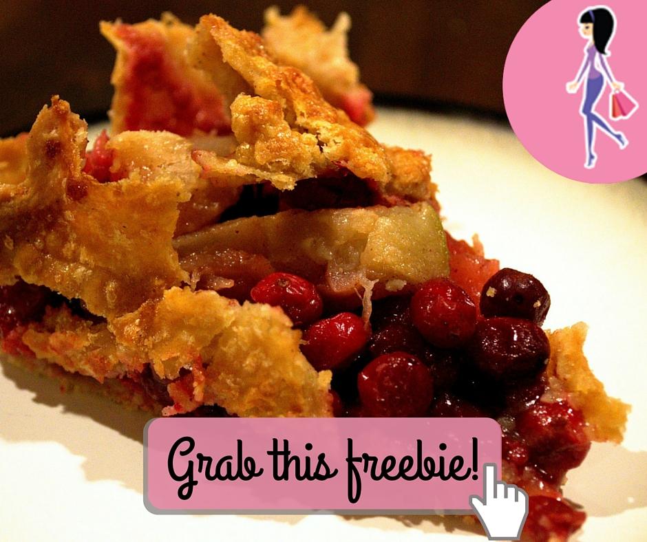 Catchy freebie template pie