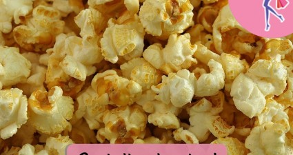Catchy freebie template popcorn