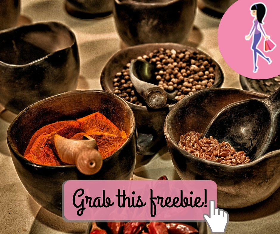 Catchy freebie template spices