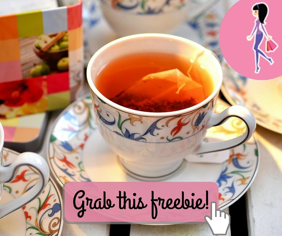 Catchy freebie template tea