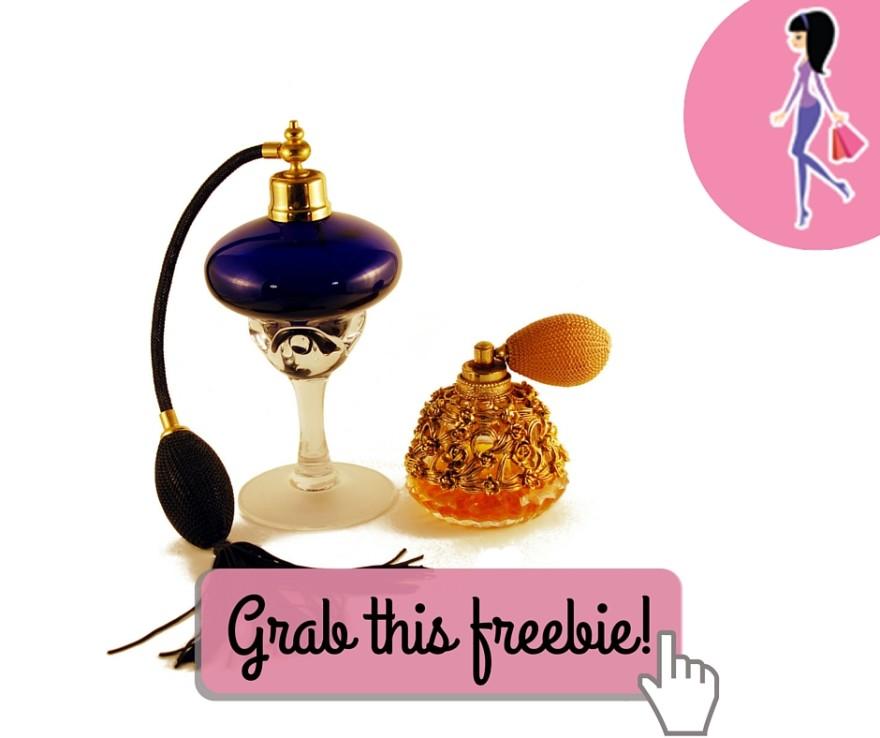 Catchy freebie template perfume