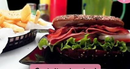 Catchy freebie template sandwich