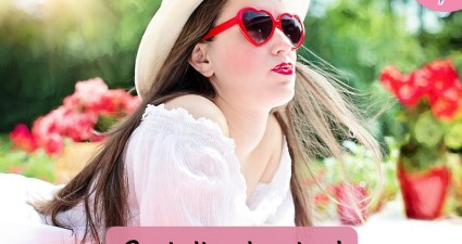 Catchy freebie template woman sunglasses
