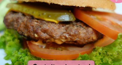 Catchy freebie template burger