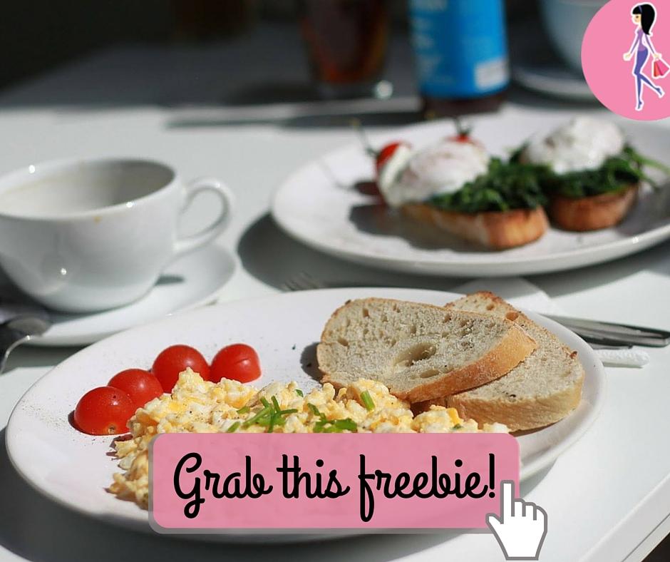 Catchy freebie template breakfast