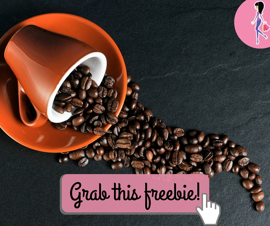 Catchy freebie template coffee beans