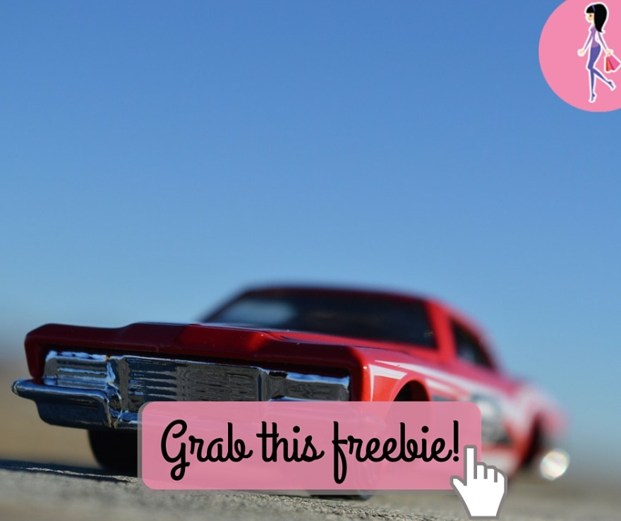 Catchy freebie template red car