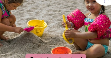 Catchy freebie template girls sand