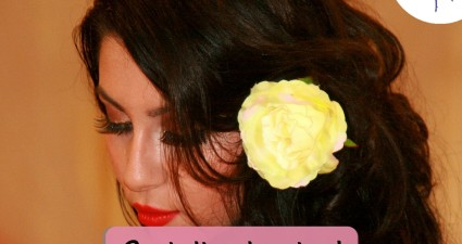 Catchy freebie template hairflower