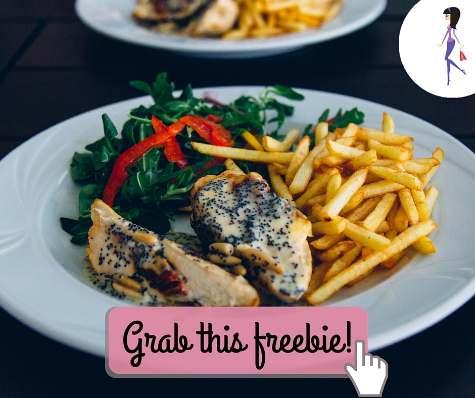 Catchy freebie template meal plate