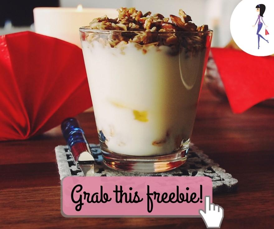 Catchy freebie template silk yogurt