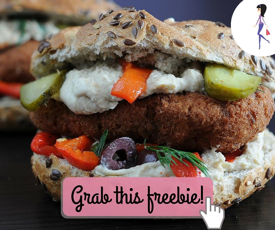 Catchy freebie template veggie burger