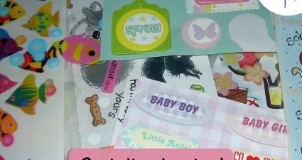 CatchyFreebies sample stickers
