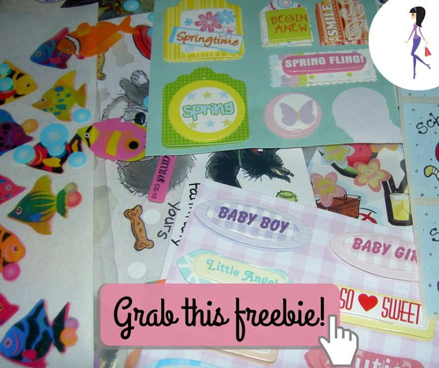 CatchyFreebies sample stickers