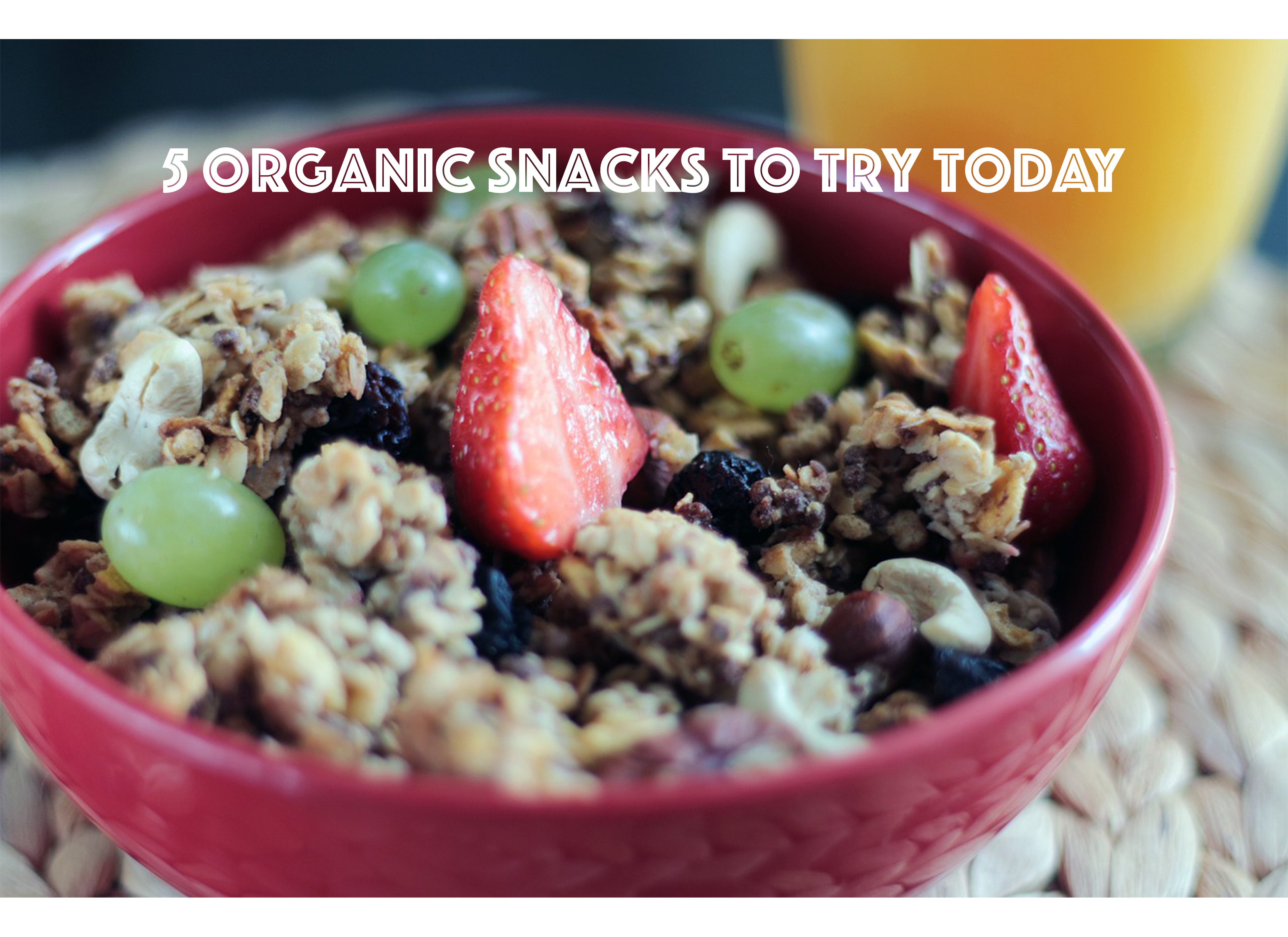 5 Organic Snacks to Try Today